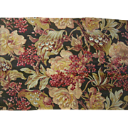 Beautiful Early 20th C. French Floral Cotton Print Fabric (9437)