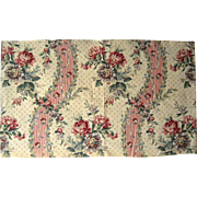 Beautiful Vintage Early 20th C. French Floral Cotton Print Fabric (9440)