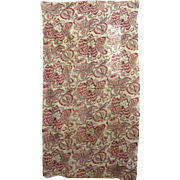 Beautiful Antique Early 19th C. French Block Print Fabric (9459)