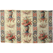 Beautiful Late 19th C. French Chinoise Print on Linen (9480)