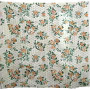 Beautiful Mid 20th C. American Floral Cotton Print Fabric (9519)