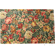 Beautiful Vintage Early 20th C. French Floral Cotton Print Fabric (9522)