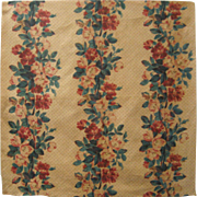 Beautiful 19th C. French Floral Cotton Chintz Print Fabric (9530)