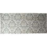 Beautiful Vintage 20th C. French Damask Cotton Print Fabric (9510)