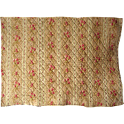 Beautiful Vintage 19th C. French Cotton Quilt Piece (9539)