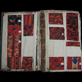Antique Vibrant & Rare 19th C. English Cotton Swatch Book - 1081 Swatches (971)