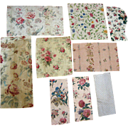Collection of Late 19th /Early 20th C.French Printed Cotton Floral Fabrics (989)