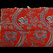 Beautiful 20th c. version of 18th c. Floral Block print (9904)