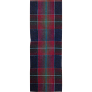Beautiful Vintage 19th c. French Woven Cotton-Wool Plaid (9907)