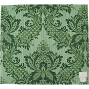 Beautiful Vintage 1930s Framed Damask Print Fabric (9938)