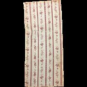 Antique Beautiful 18th C French Cotton Block Print (9988)