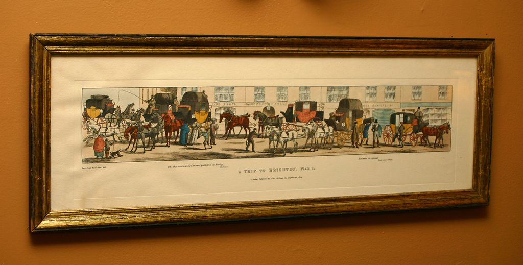 "Amazing! Framed Print Set, signed Thomas McLean  ""A Trip to Brighton"""