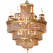 Early 1900's Grand Crystal Chandelier