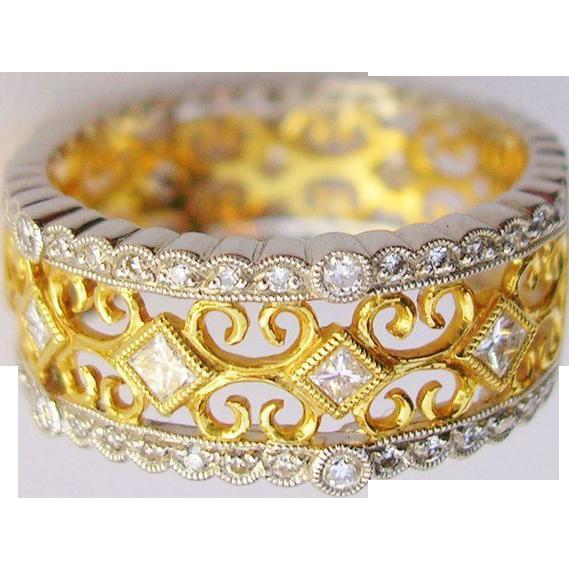 *On LAY-AWAY* 18k Diamond Designer Ring-Carl Blackburn-2 Tone