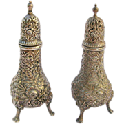 **SUPER SALE!**  Pair Vintage S.Kirk & Son Sterling Repousse Salt & Pepper Shakers