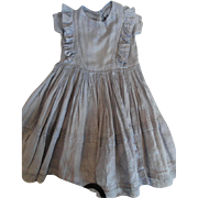 Blue Pinafore for Large Doll