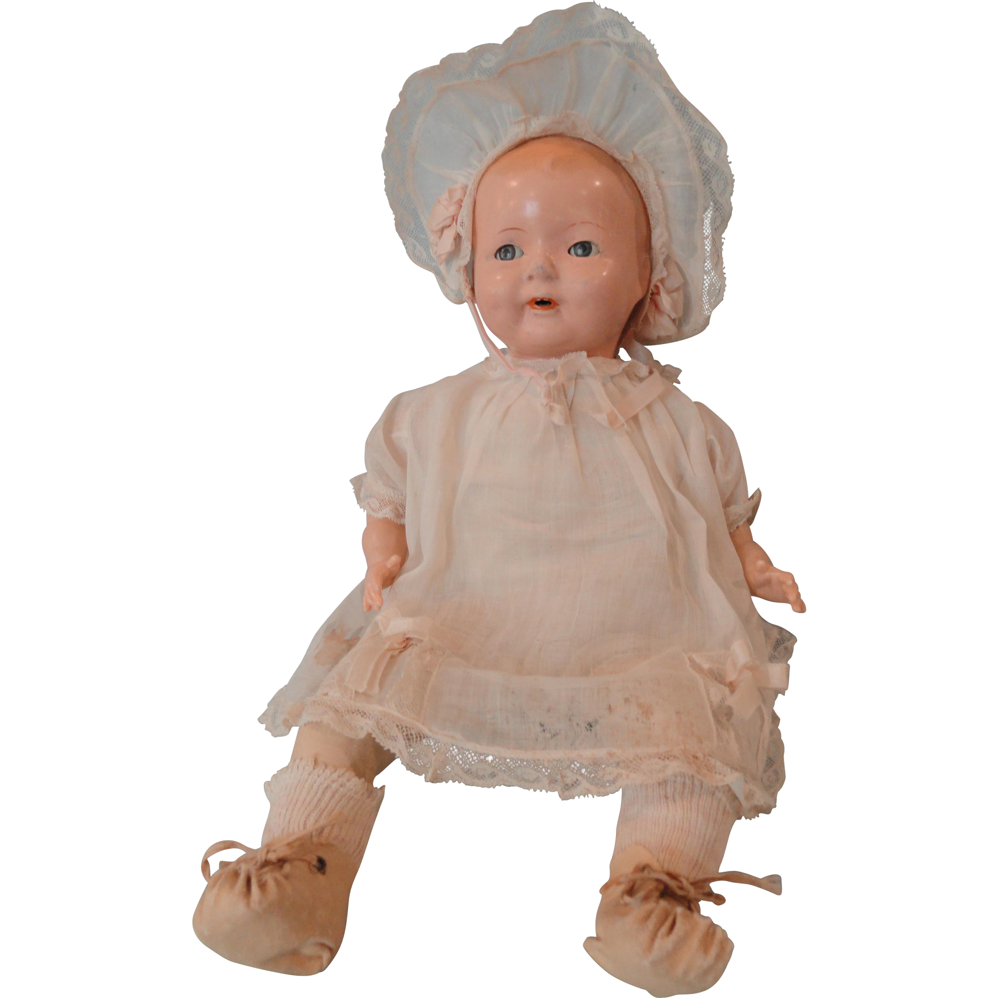 ideal rubber baby doll flirty eyes sleepy