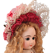 HALF PRICE:  Pretty Rose Colored Doll Hat