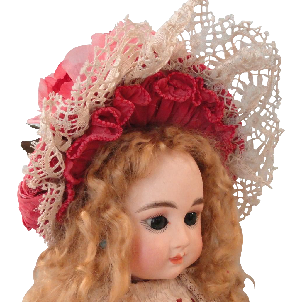 Pretty Rose Colored Doll Hat