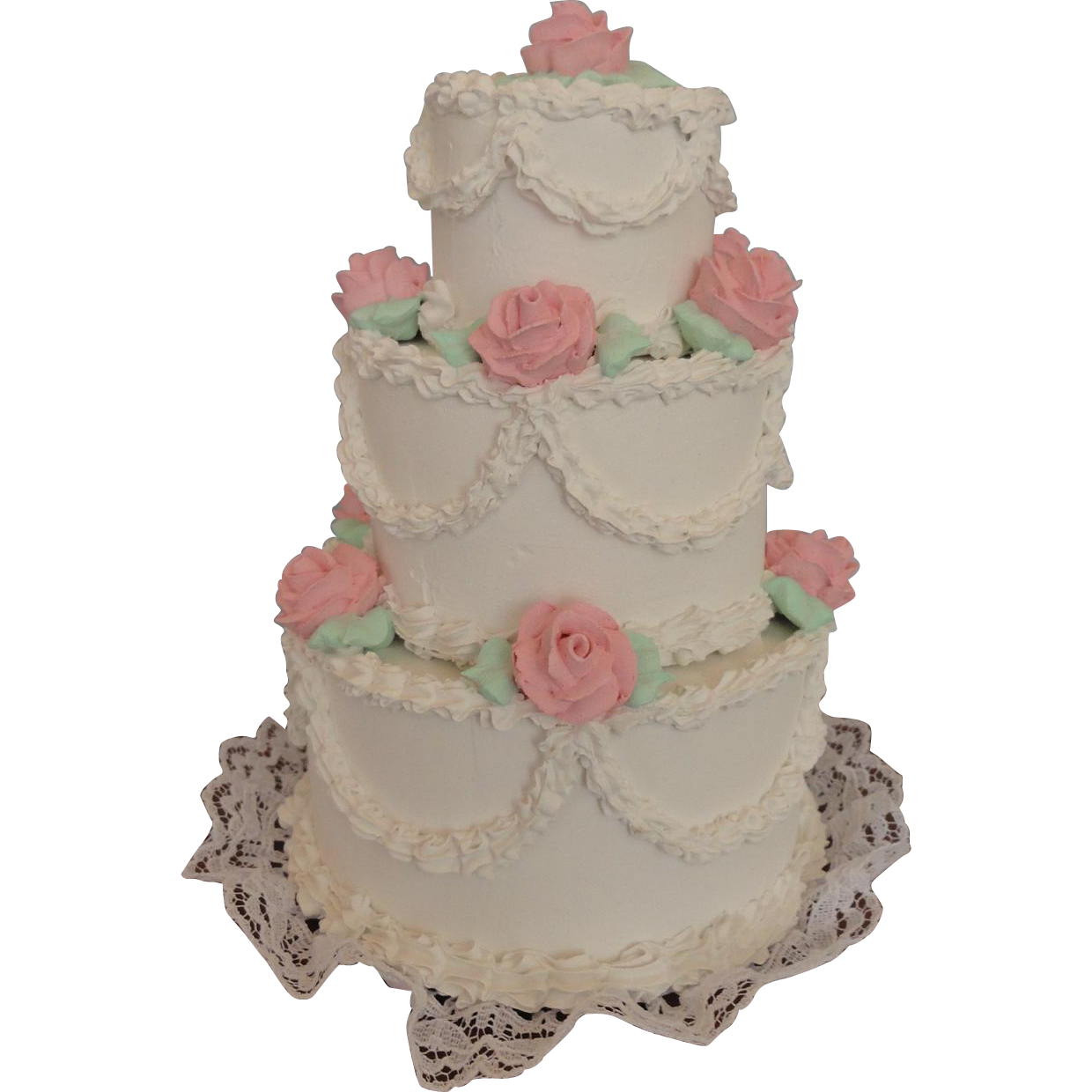 Gorgeous Wedding Cake 6 1 2 Inches Tall From Auntpatsyscottage On Ruby Lane