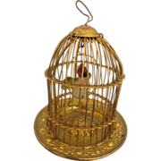 Erhard and Sohn Bird Cage w/Wax Parrot - Red Tag Sale Item