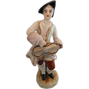 Miniature Porcelain Troubadour Figurine