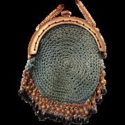 Precious Tiny Aqua Crocheted Purse for your French Fashion