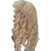 Beautiful Pale Blond Mohair Wig by Mary Paul of England