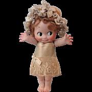 "Most Adorable Huge 10"" Kewpie in Original Clothes"