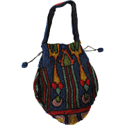 Colorful Deco Beaded Bag from Belgium