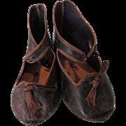 SALE--Large Early Antique Jumeau Shoes Size 15