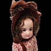 Handsome Brown Straw Doll Bonnet