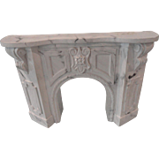 Faux Marble Lawbre Dollhouse Fireplace