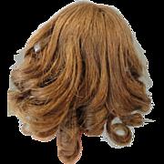 Pretty Vintage Medium Brown Size 9 Human Hair Wig