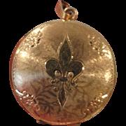 Danecraft Locket 12K Gold Filled, with Fleur-de-lis
