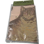 Reproduction Sewing Kit 1876 Tabby Cat circa 1970s