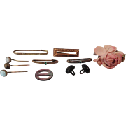 Doll Pins, Stick Pins, Buttons and Buckle