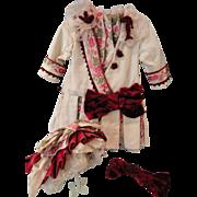 """Lovely Artist Made Dress & Bonnet for Large 32"""" Doll"""