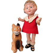 Little Orphan Annie and Sandy by Freundlich 1920s