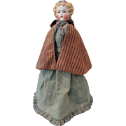 "Unusually Pretty 18"" Blond Dolly Madison China Head Doll"