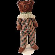 "Large 26"" Plaid Stuffed Bear"