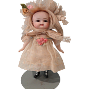 """Adorable 6"""" Kestner All Bisque w/2 Square Cut Teeth"""