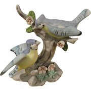Figurine Pair of Bluejays, for Dollhouse or Salon