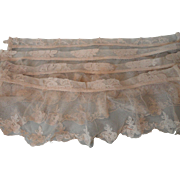 Lot of 4 Shabby Homemade Lace Valences