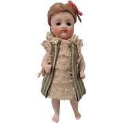 """Small 4"""" Early Kestner Barefoot Swivel Neck All Bisque Doll"""