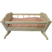 Vintage Wood Doll Crib 12+ Inches Long