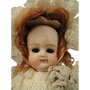 """Exceptionally Cute Early Kestner 6"""" All Bisque Swivel Neck Doll"""