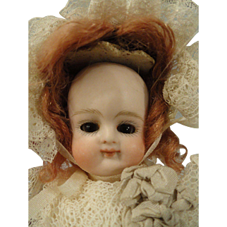 "Exceptionally Cute Early Kestner 6"" All Bisque Swivel Neck Doll"