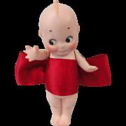 """5 1/2"""" Kewpie in Red Christmas Bow"""