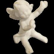 "Tiny 1 1/2"" White Bisque Angel"